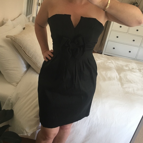 Black Bow Cocktail Dress